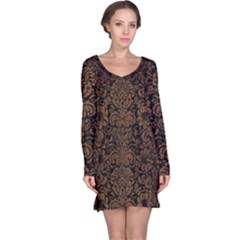 DMS2 BK-MRBL BR-WOOD Long Sleeve Nightdress