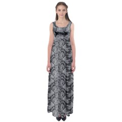 Black Floral Lace Pattern Empire Waist Maxi Dress