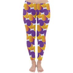 Purple And Yellow Abstract Pattern Classic Winter Leggings