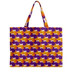 Purple And Yellow Abstract Pattern Zipper Mini Tote Bag