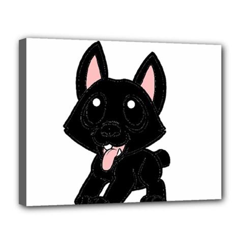 Cane Corso Cartoon Canvas 14  X 11