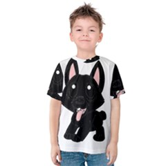 Cane Corso Cartoon Kids  Cotton Tee