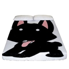 Cane Corso Cartoon Fitted Sheet (King Size)