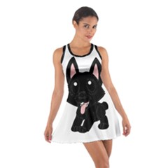 Cane Corso Cartoon Cotton Racerback Dress