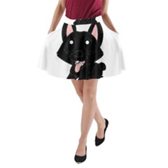 Cane Corso Cartoon A-Line Pocket Skirt