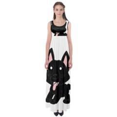 Cane Corso Cartoon Empire Waist Maxi Dress