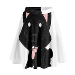 Cane Corso Cartoon High Waist Skirt