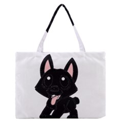 Cane Corso Cartoon Medium Zipper Tote Bag