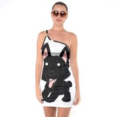 Cane Corso Cartoon One Soulder Bodycon Dress
