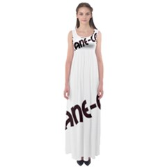 Cane Corso Mashup Empire Waist Maxi Dress