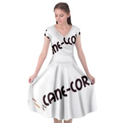 Cane Corso Mashup Cap Sleeve Wrap Front Dress