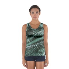 Green Marble Stone Texture Emerald  Sport Tank Top