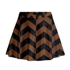 CHV2 BK-MRBL BR-WOOD Mini Flare Skirt
