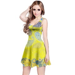 Paisley Pattern Reversible Sleeveless Dress