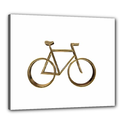 Elegant Gold Look Bicycle Cycling  Canvas 24  X 20