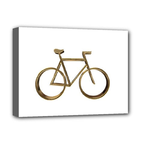 Elegant Gold Look Bicycle Cycling  Deluxe Canvas 16  X 12