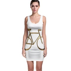 Elegant Gold Look Bicycle Cycling  Bodycon Dress