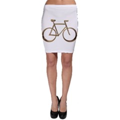 Elegant Gold Look Bicycle Cycling  Bodycon Skirt