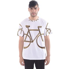 Elegant Gold Look Bicycle Cycling  Men s Sports Mesh Tee