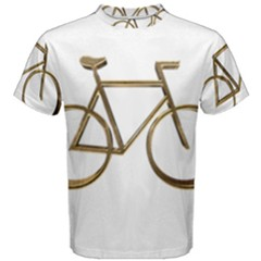 Elegant Gold Look Bicycle Cycling  Men s Cotton Tee