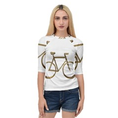 Elegant Gold Look Bicycle Cycling  Quarter Sleeve Tee