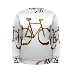Elegant Gold Look Bicycle Cycling  Women s Sweatshirt