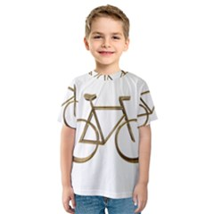 Elegant Gold Look Bicycle Cycling  Kids  Sport Mesh Tee