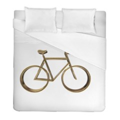 Elegant Gold Look Bicycle Cycling  Duvet Cover (full/ Double Size)