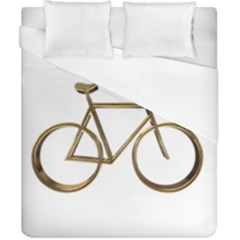 Elegant Gold Look Bicycle Cycling  Duvet Cover (california King Size)