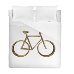 Elegant Gold Look Bicycle Cycling  Duvet Cover Double Side (full/ Double Size)