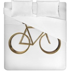 Elegant Gold Look Bicycle Cycling  Duvet Cover Double Side (king Size)
