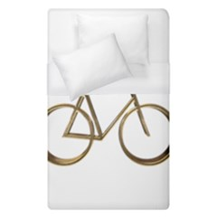 Elegant Gold Look Bicycle Cycling  Duvet Cover (single Size)
