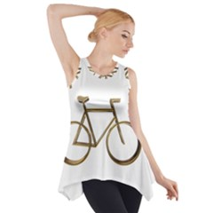 Elegant Gold Look Bicycle Cycling  Side Drop Tank Tunic