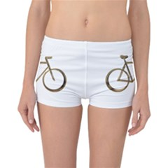 Elegant Gold Look Bicycle Cycling  Reversible Boyleg Bikini Bottoms