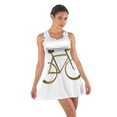 Elegant Gold Look Bicycle Cycling  Cotton Racerback Dress
