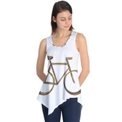 Elegant Gold Look Bicycle Cycling  Sleeveless Tunic