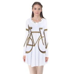 Elegant Gold Look Bicycle Cycling  Flare Dress