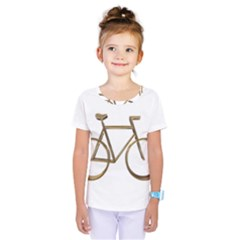 Elegant Gold Look Bicycle Cycling  Kids  One Piece Tee