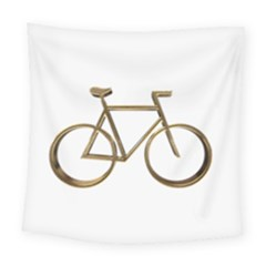 Elegant Gold Look Bicycle Cycling  Square Tapestry (large)