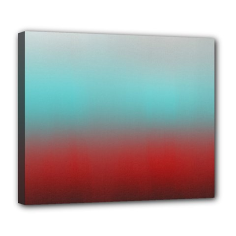 Frosted Blue And Red Deluxe Canvas 24  X 20