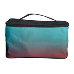 Frosted Blue And Red Cosmetic Storage Case