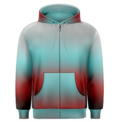 Frosted Blue And Red Men s Zipper Hoodie