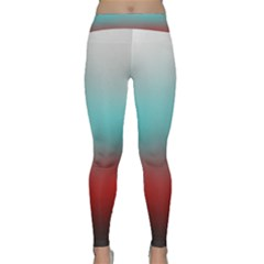 Frosted Blue And Red Classic Yoga Leggings