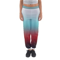 Frosted Blue And Red Women s Jogger Sweatpants
