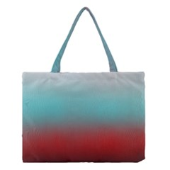Frosted Blue And Red Medium Tote Bag