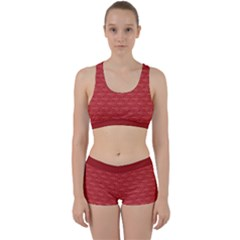 Red Scales Work It Out Sports Bra Set