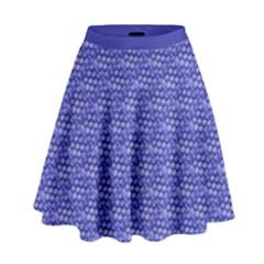 Blue Scales High Waist Skirt