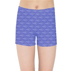 Blue Scales Kids Sports Shorts
