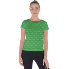 Green Scales Short Sleeve Sports Top