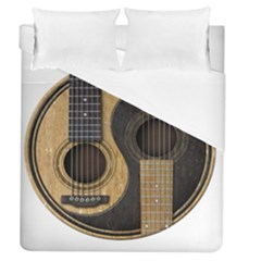 Old And Worn Acoustic Guitars Yin Yang Duvet Cover (queen Size)